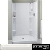 Sterling Ensemble 72122100-0 Shower Back Wall, Rectangular, Vikrell, White