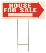 HY-KO RS-801 Lawn Sign, House For Sale, White Legend