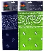 Paisley Cotton Bandana - Assorted Colors