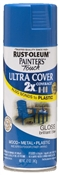 2X Painter's Touch Spray Paint Gloss Brilliant Blue