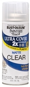 2X Painter's Touch Spray Paint Matte Clear