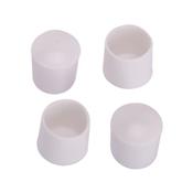 Prosource FE-50613-PS Furniture Leg Tip, Round, Plastic, White