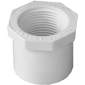 "1-1/4""x1"" Slip x Threaded Bushing Schedule 40 PVC"