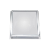 2'x2' White Dome/Mill Frame Skylight Self Flashing