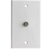 Coaxial Cable Wall Plate, White