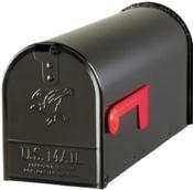 Black Rural Mailbox - Standard