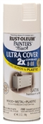 2X Painter's Touch Spray Paint Satin Heirloom White