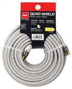 50 ', 18 Awg, Gray, Quad Shield RF6 Coaxial Cable