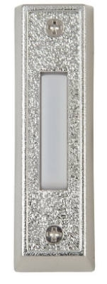 Lighted White And Silver Doorbell Button Housing