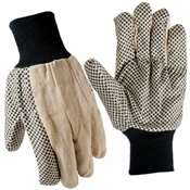 True Grip, Large, Men's, Dotted Cotton Canvas Gloves