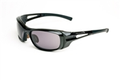 Shiny Black Full Frame Sunglasses With Smoke Lens
