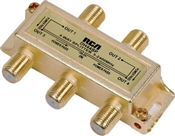 4 Way Splitter, For Satellite & Digital Cable Applications