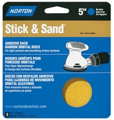 "5"" 40 Grit Stick & Sand Disc - 4 Pack"