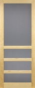 "Heavy Duty 3 Bar Solid Wood Screen Door, 2'8"" x 6'8"""