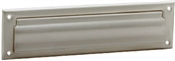 "2"" x 11"" Satin Nickel Mail Slot with Magazine Open Back Plate"