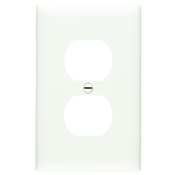 White Nylon 1 Gang Duplex Receptacle Plate