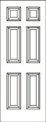 3068 Right Hand 6 Panel Smooth Fiberglass American Disability Association 4-9/16 No Rot Jamb Satin Nickel Hinge