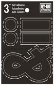 HY-KO 30400 Series 30437 Die-Cut Symbol Set, Character . - &, 3 in H Character, Black Character