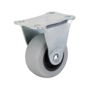 Prosource JC-N01-G Rigid Caster with Brake, 2 in Dia Wheel, 105 lb Weight Capacity, Thermoplastic Rubber Wheel