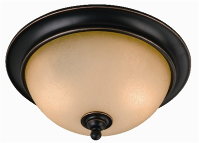 2 Light Oil Rubbed Bronze Dover Flush Indoor Ceiling Fixture