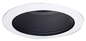 "6"" Black Metal Baffle w/ White Trim Ring"