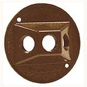 "3-1/2"" Round Lamp Cover -  Bronze"