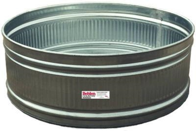6' Round Galvanized Stock Tank - 389 Gallon