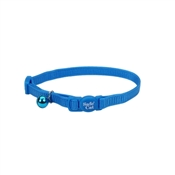 """Safecat 12"""" Adjustable Cat Collar, Blue"""