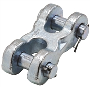 National Hardware N830-311 Double Clevis Link, 5/8 In, 13000 Lb, Steel, Zinc Plated