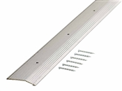 "72""x2"" Carpet Bar Fluted Silver"