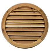 "24"" Round Cedar Louver With Brick Mould"