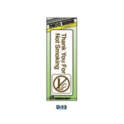"""NO SMOKING"" BROWN/WHITE PLASTIC SIGN 3""X9"""