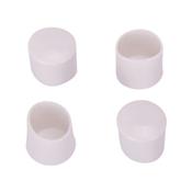 Prosource FE-50612-PS Furniture Leg Tip, Round, Plastic, White