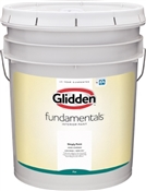 Glidden Fundamentals Flat White Interior Paint, 5 Gallon