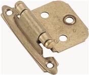 Amerock BP3429BB/BPR3429B Cabinet Hinge, Steel, Burnished Brass