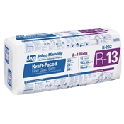 """R13 3-1/2"""" X 23"""" Kraft Faced Fiberglass Insulation"""