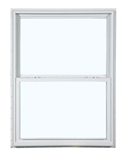 2650 300 Insulated Low-E Glass 1/1 Bronze Single Hung Window