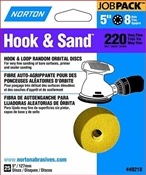 "5"" 220 Grit Hook & Loop Sanding Disc, 25 Pack"