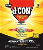 D-Con Disposable Mouse Bait Station, 3 Pack