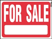 HY-KO RS-604 Real Estate Sign, For Sale, White Legend