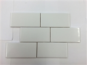 3 x 6 Subway Tile, White Ice