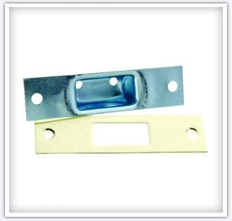 Zinc & Brass Plated Steel Security Box Strike & Face Plate
