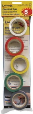 Electrical Tape Assorted Colors 5/Pack