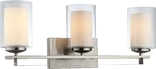 El Dorado 3 Light Wall Sconce, Satin Nickel Finish