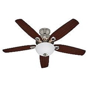 "52"" Builder Deluxe Ceiling Fan - Brushed Nickel"