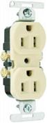 15A, CO/ALR Duplex Outlet, White