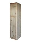 "18"" Unfinished Pine Pantry Cabinet"