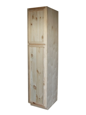 18 Unfinished Pine Pantry Cabinet