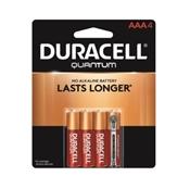 Duracell Alkaline Quantum Battery, 4/AAA Battery, 1.5 V Battery