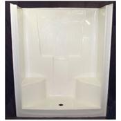 """48"""" x 35"""" x 77"""" Koral (1) Piece Shower Stall - White"""